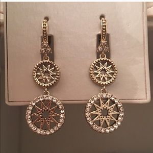 MARCHESA pave sunburst earrings